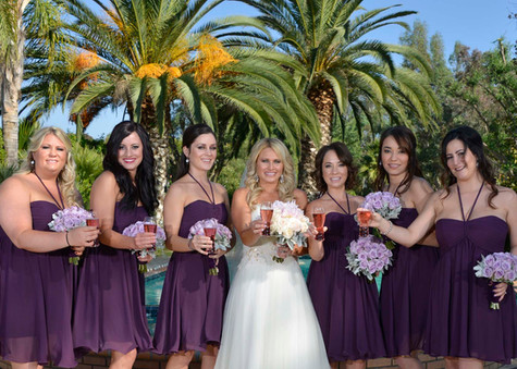 Bridesmaids and bubbly