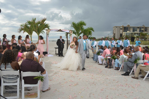 Ceremony on beach at the Grand Plaza