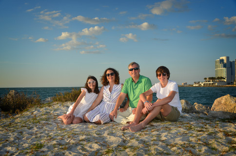 Chandler family at Clearwater Beach