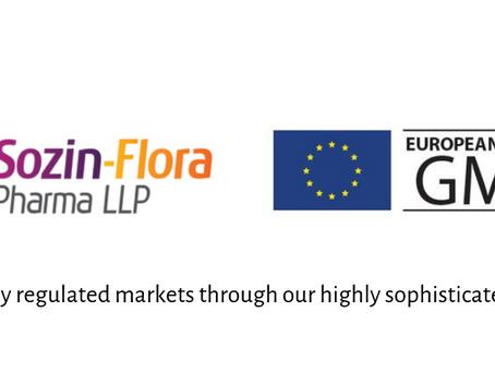 Sozin Flora Pharma get EU GMP Approval!