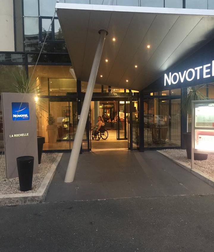 Entrance into the hotel