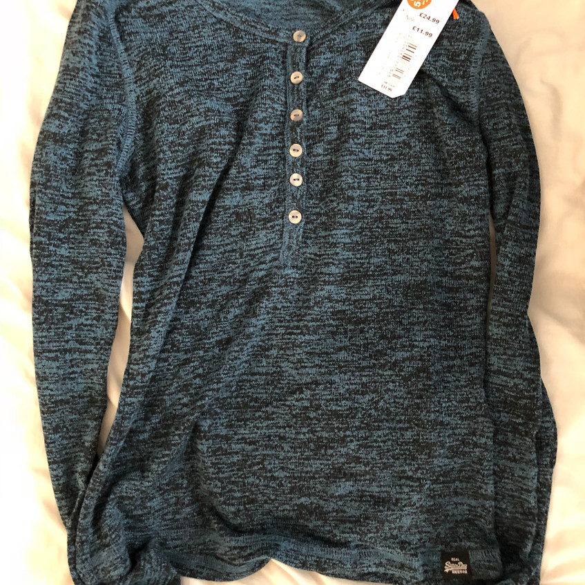 Blue Superdry knit top