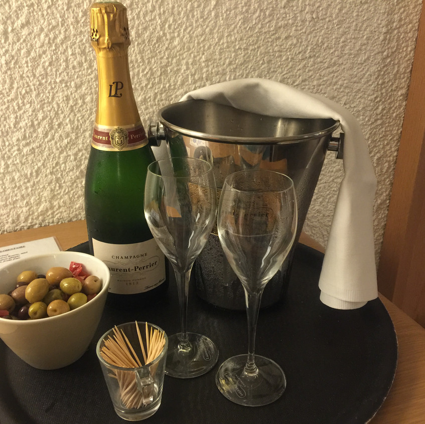 Champagne in the room!