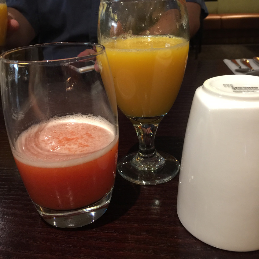 Breakfast Smoothies and Orange Juice