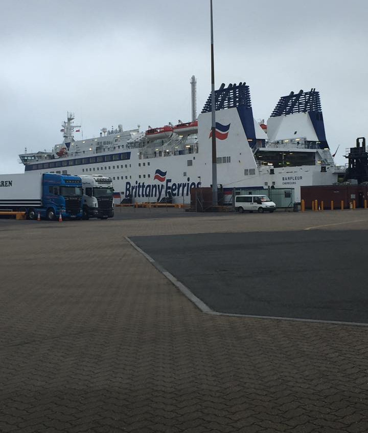 The Barfleur docked in Poole