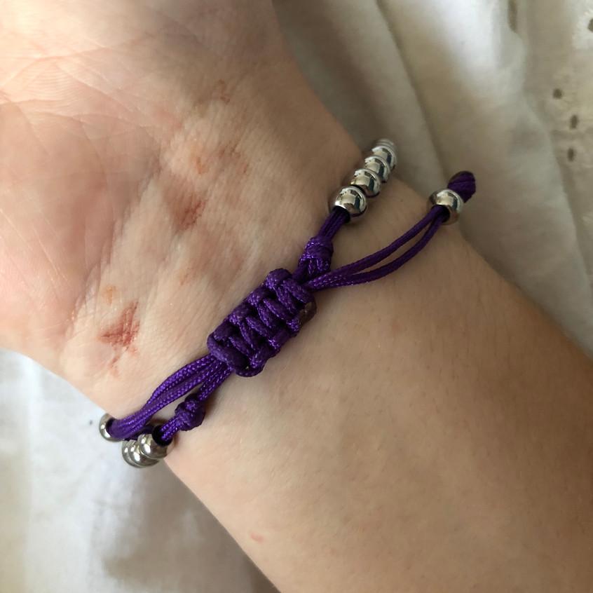 Medical Bracelet Tightened On Wrist