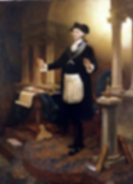 George Washington in masonic regalia