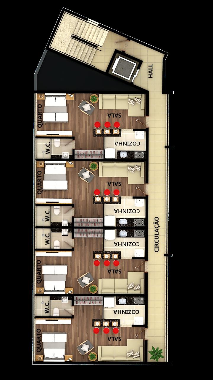 Apartamentos Kitnet tipo