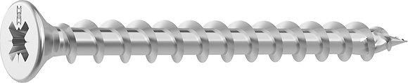 Шурупы HECO-TOPIX Stainless steel A2 с потайной головой и шлицем PZ