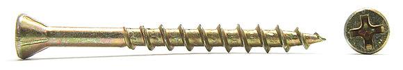 Саморез финишный HOBAU с неполной резьбой, уменьшенной потайной головкой