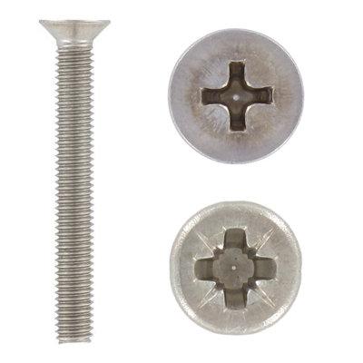 Din 965 Винт с потайной головкой, крестообразный шлиц (Ph, Pz)