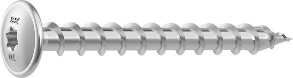 Шурупы HECO-TOPIX Stainless steel A2 с плоской головой и шлицем T-Drive