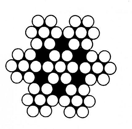 Трос нержавеющий с плетением 7х7, средней жёсткости