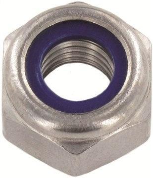 Шестигранная гайка, самостопорящаяся (пластиковое кольцо), высокая
