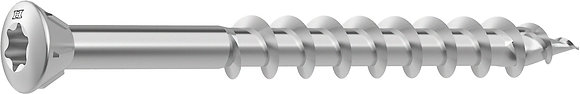 Шурупы HECO-TOPIX Glass-Strip Stainless steel A2 с неполной резьбой