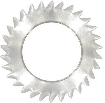 Шайба стопорная с наружными зубцами для потайных винтов