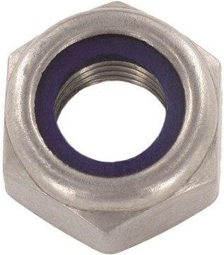 Din 985 Гайка шестигранная с контрящим элементом, нейлоновым вкладышем