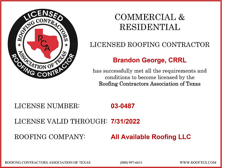 Updated License for All Available Roofing LLC.jpg