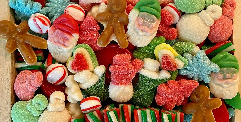 "Mini Christmas Candy Charcuterie 9"" x 6"" x 1.75"""