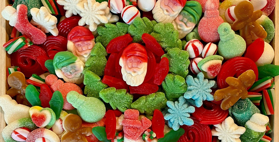 """Deluxe Christmas Candy Charcuterie 12"""" x 8"""" x 2"""""""