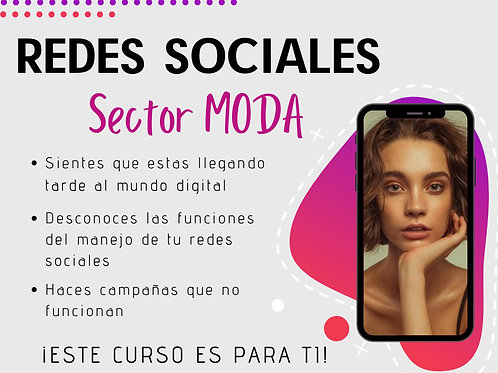 CURSOS DE MODA Y REDES SOCIALES
