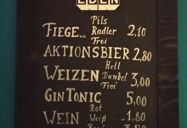 Bier, Wein und Gin Tonic