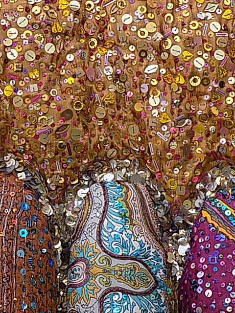 Example of a surface encrusted with beads and sequins from The Natural Collection