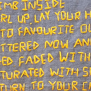 Nostalgic Poetry - Hand Embroidery in Textile Art