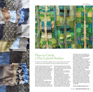 How to create a flat layered surface using scraps and off-cuts