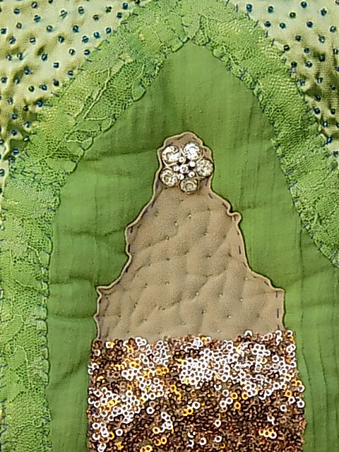 With Diwali approaching 'beneath the folds with Christine Cunningham' explores India with abstract images of Buddha, Temples and Elephants from her Natural Collection. Click on image for link to mrxstitch magazine and indulge in the light reflective embellishments decorating traditional techniques.