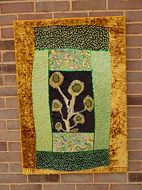beneath the folds with Christine Cunningham explores how to wrap a textile around a framed structure and considers hanging textiles, storage and postage. Regular blog post for mrxstitch magazine