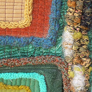 Using wool to embellish textile art