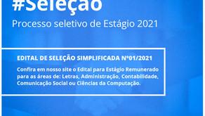 EDITAL PARA SELEÇÃO DE ESTAGIÁRIO(A)