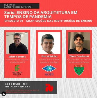 Série de Lives: Ensino da arquitetura em tempos de pandemia Episódio 1