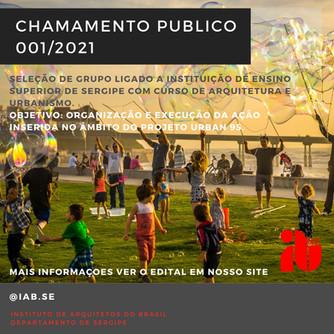 Chamamento Público: Ação do Urban 95 em Aracaju