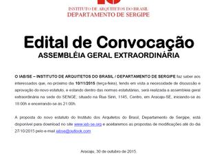 Assembléia de Aprovação do Estatuto