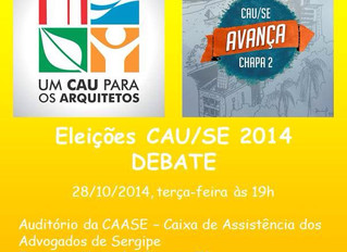 Debate entre chapas do CAU-SE