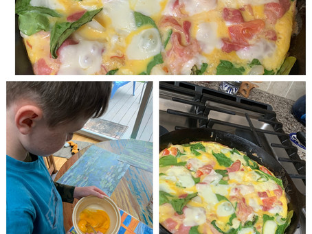 Fritatta For The Kids Made By The Kids!