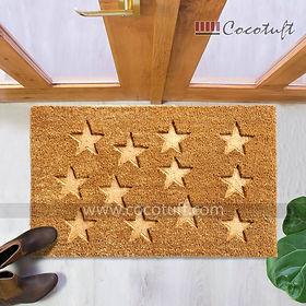 Stars Impression printed Coir Door Mats