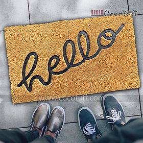 Hello Impression printed Coir Door Mat