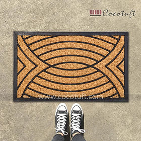 Pattern Designed Moulded Coir and Rubber Mat