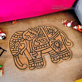 Elephant Shaped Vinyl Backed Coir Floor Mat