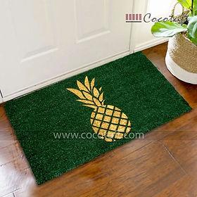 Pineapple printed Green Glitter Coir Door Mat
