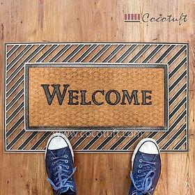 Moulded Coir and Rubber Welcome Door Mat