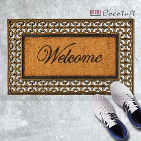 Moulded Princess Bordered Coir and Rubber Welcome Mat