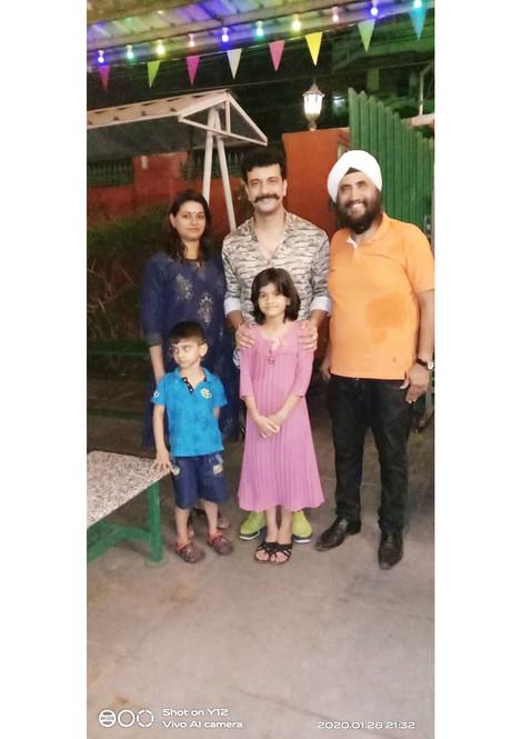 Ramesh Pisharody & Family at Sethi Da Dhaba