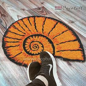 Seashell Shaped Vinyl Backed Coir Floor Mat