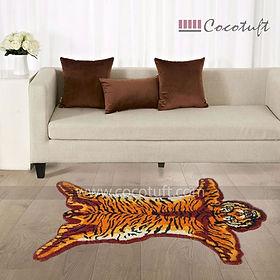 Tiger Shaped Vinyl Backed Coir Floor Mat
