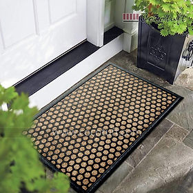 Pattern design Moulded Coir and Rubber Mat