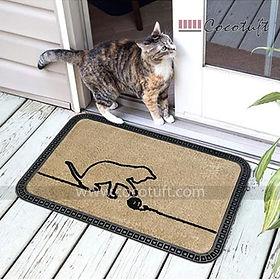 Cat playing design printed Polypropylene Mat